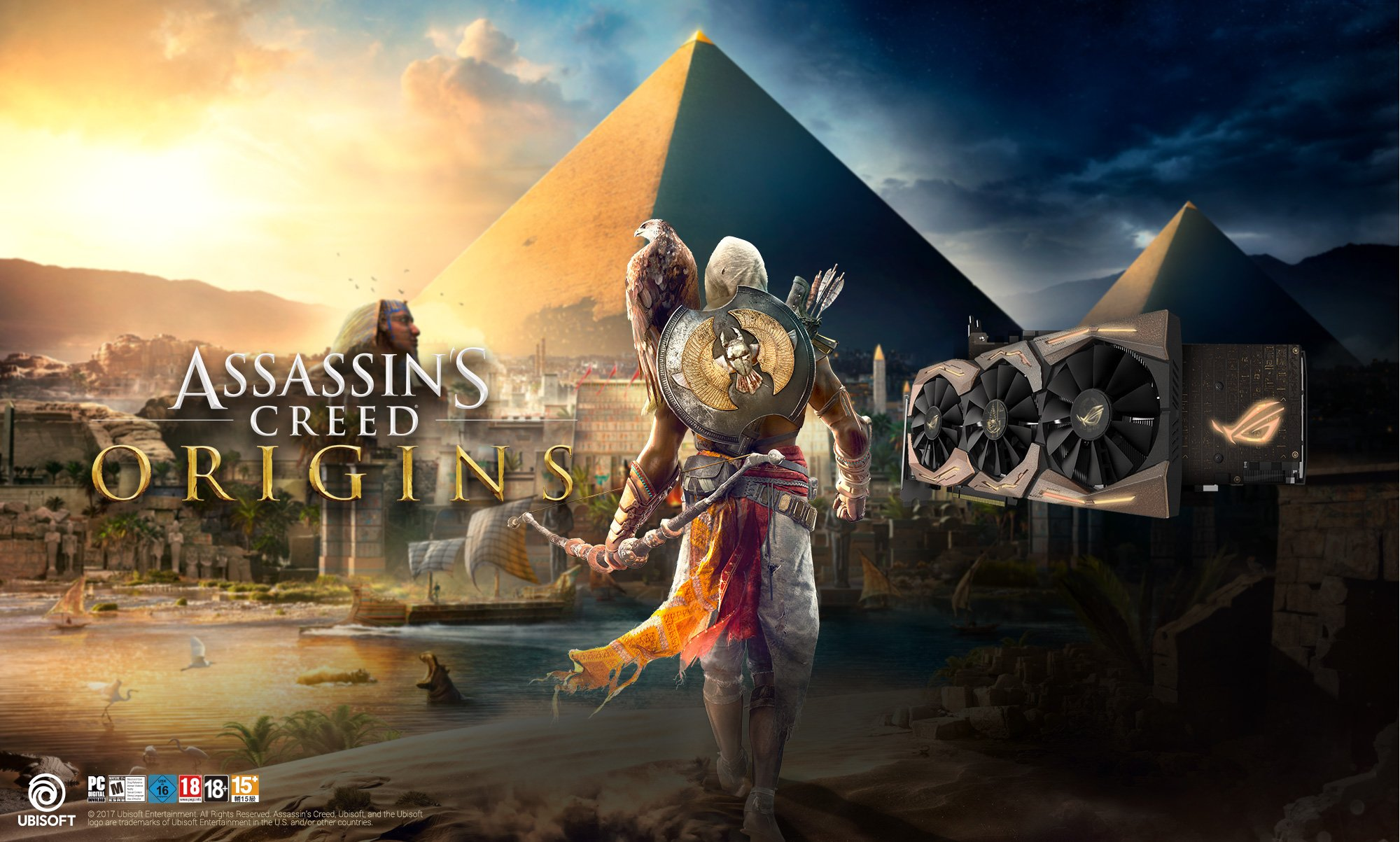 ASUS ROG Strix GeForce GTX 1080 Ti Assassins Creed Origins Edition Satışa Sunuldu